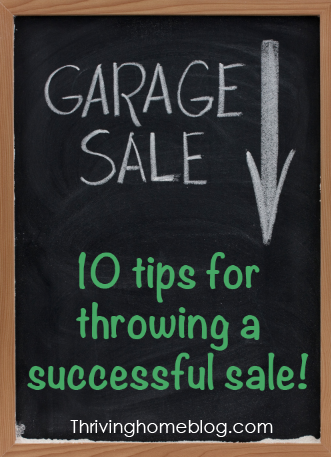 Tips on How to throw a good garage sale