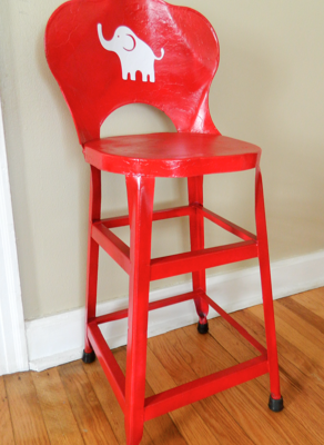 Antique Children's Chair Makeover