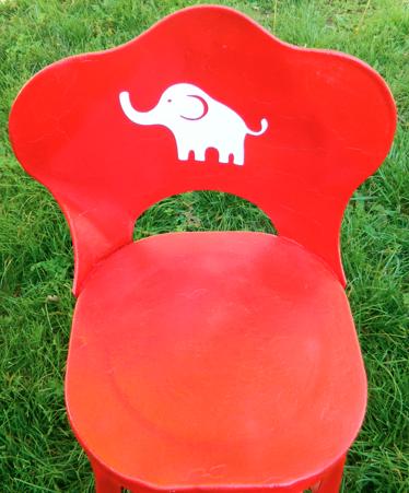 Silhouette Vinyl Shape on Chair