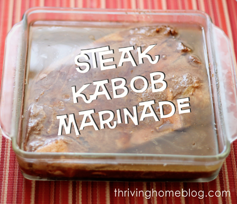 The key to a great kabob -- the marinade. Try this flavorful marinade and you're sure to amaze guests at your next cook out!
