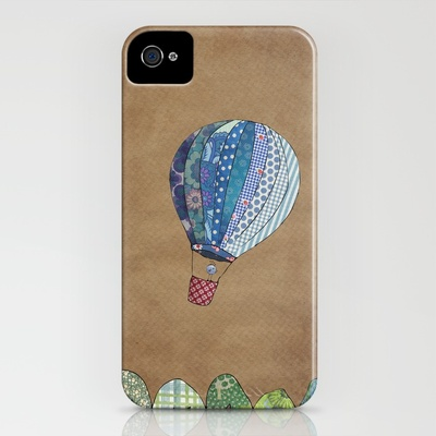 Cute iPhone case with hot air balloons