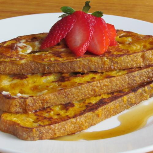 healthy sweet potato french toast