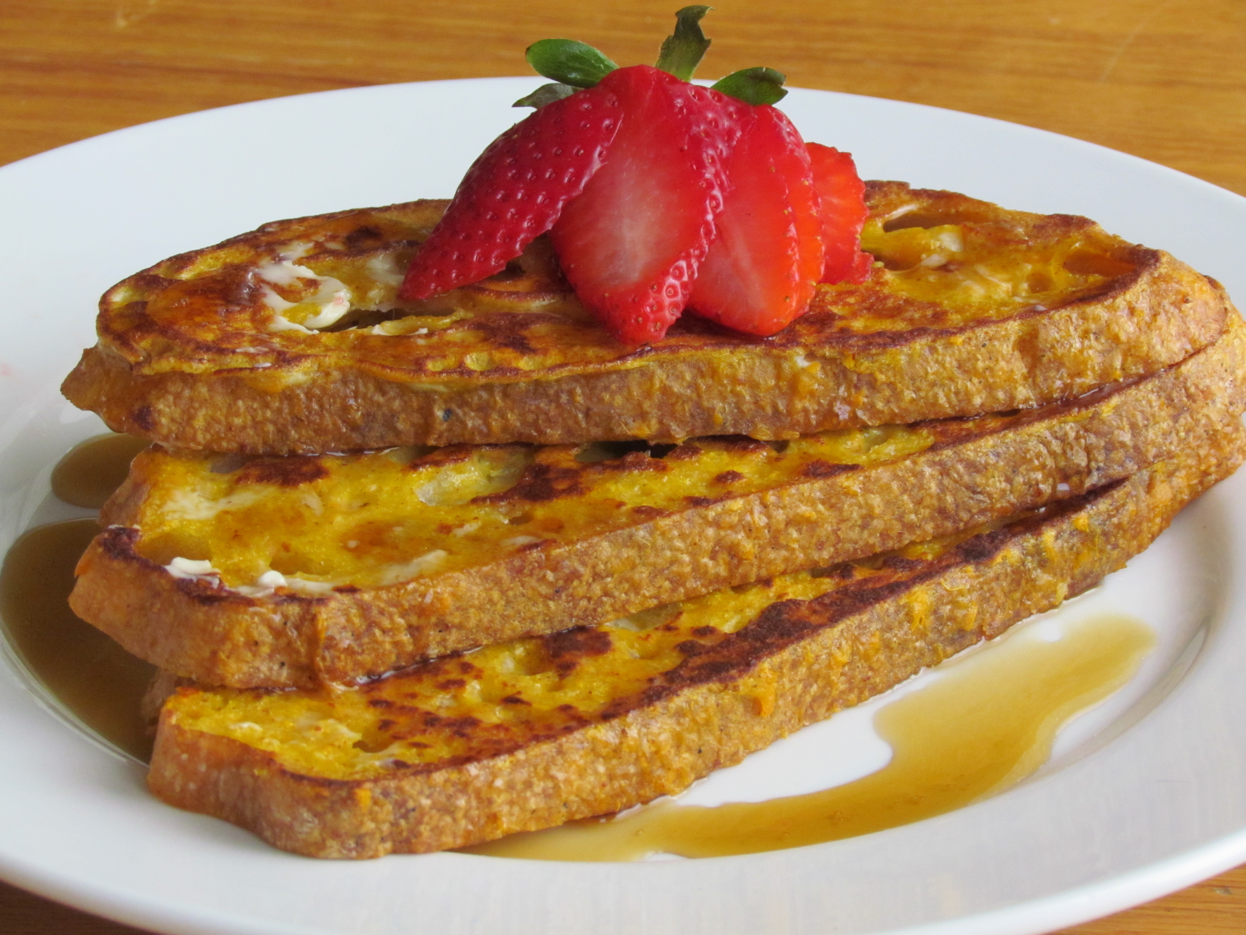 Whip up a bit of fall into your french toast batter and enjoy some extra nutrition at the same time with this recipe. A family favorite in our house!