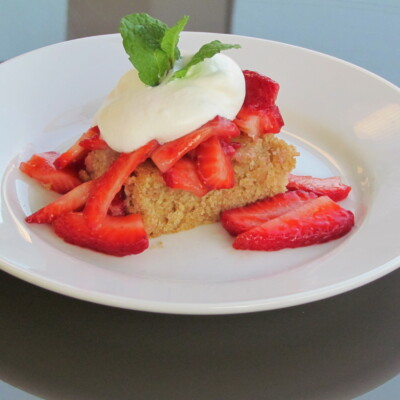 healthy strawberry shortcake