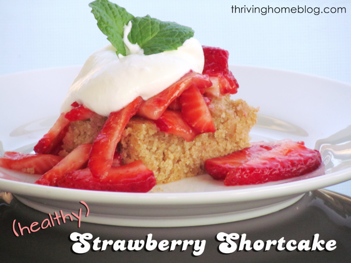 Try this whole food version of strawberry shortcake. Top it with fresh whipped cream for a fantastic dessert!