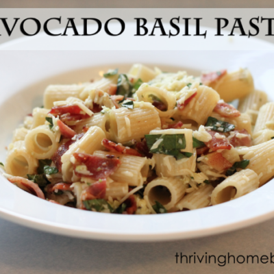 Whole Wheat Avocado Basil Pasta