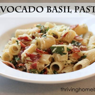 Whole Wheat Avocado Basil Pasta