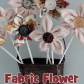 Fabric Flower Bouquet Tutorial