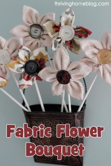 Fabric Flower Bouquet Tutorial
