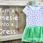 How to Transform a Onesie into a Dress