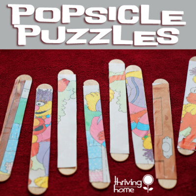 Cheap and Easy Activity for a Toddler: Popsicle Stick Puzzles