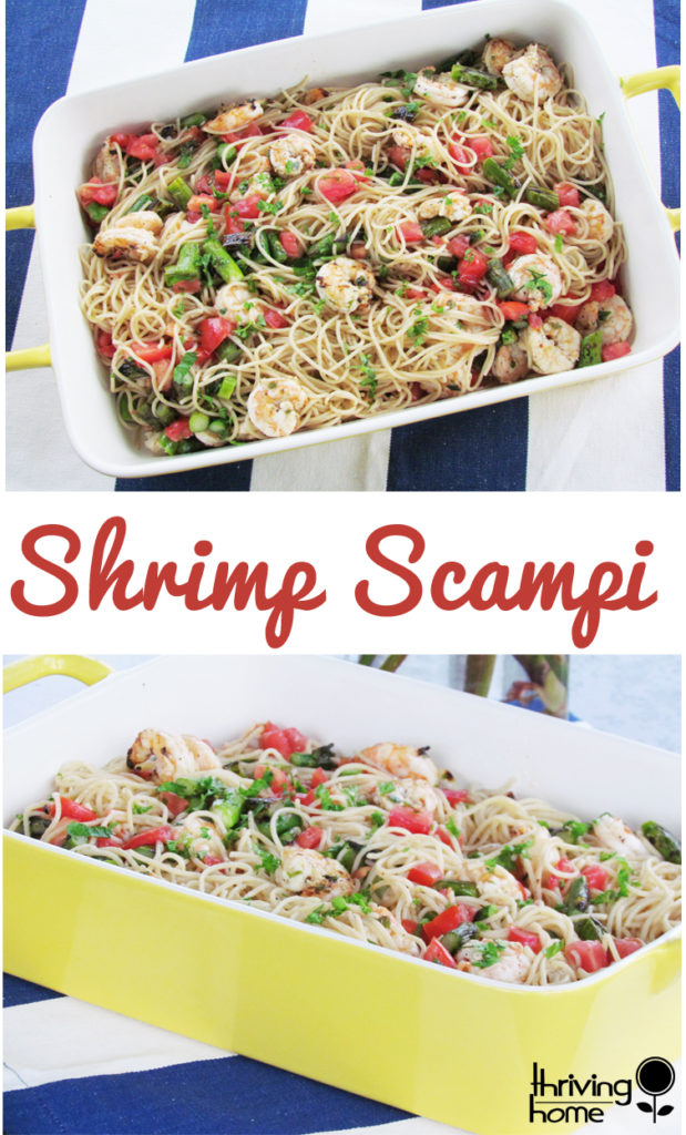 Delicious shrimp scampi recipe. This super easy, light, fresh-tasting entree makes a perfect summer meal. Freezer friendly too!