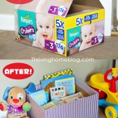 Creative Storage Idea: Repurpose Old Diaper Boxes!