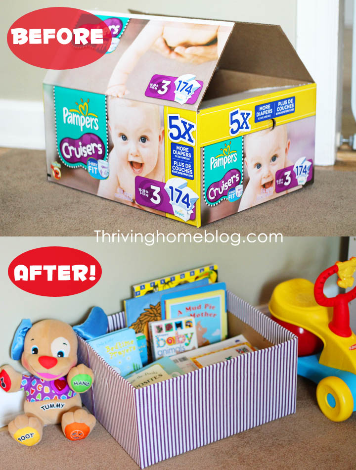 Decorated Diaper Box