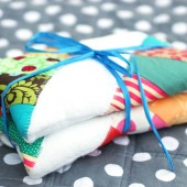 Decorate Burp Cloths with Fabric Scraps