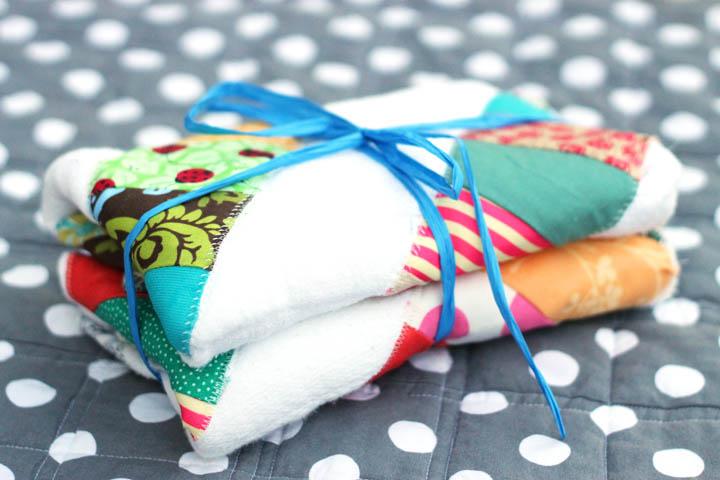 homemade burp cloths