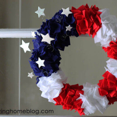 Make Your Own Fourth of July Wreath