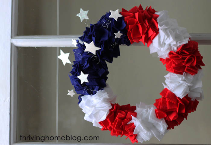 Make Your Own Fourth Of July Wreath Thriving Home