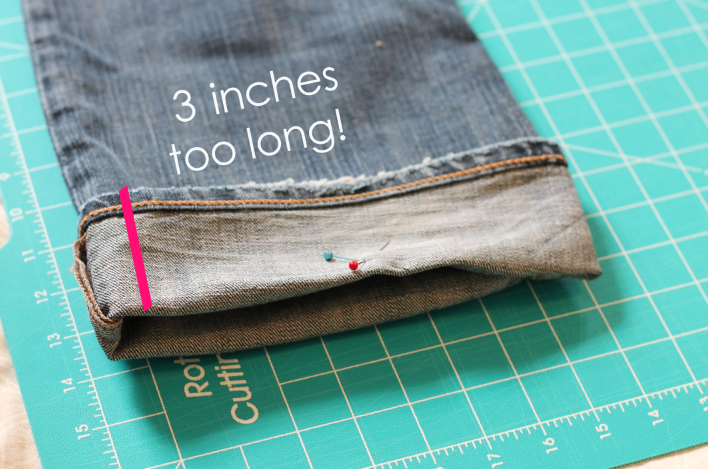 How to hem your own jeans and keep original hem
