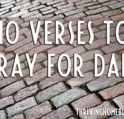 10 verses to pray for fathers