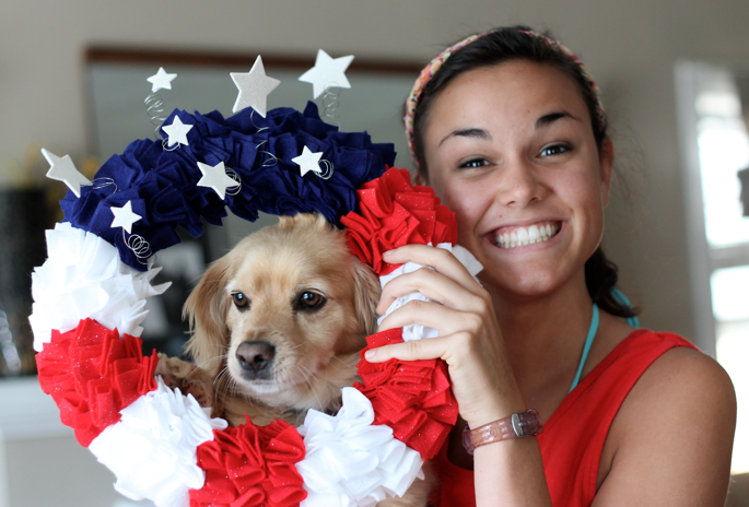 Karis and Fourth of July Wreath