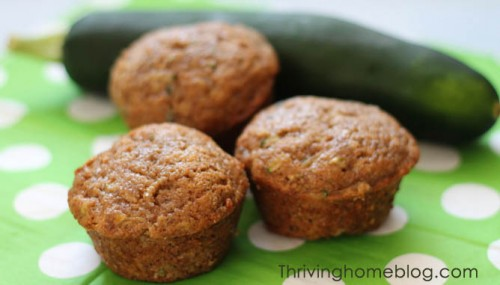 When your garden is bursting with zucchini, try this healthier version of zucchini muffins. Then put some in your freezer for a quick breakfast treat.