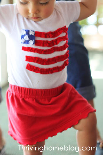 DIY 4th of July onesie