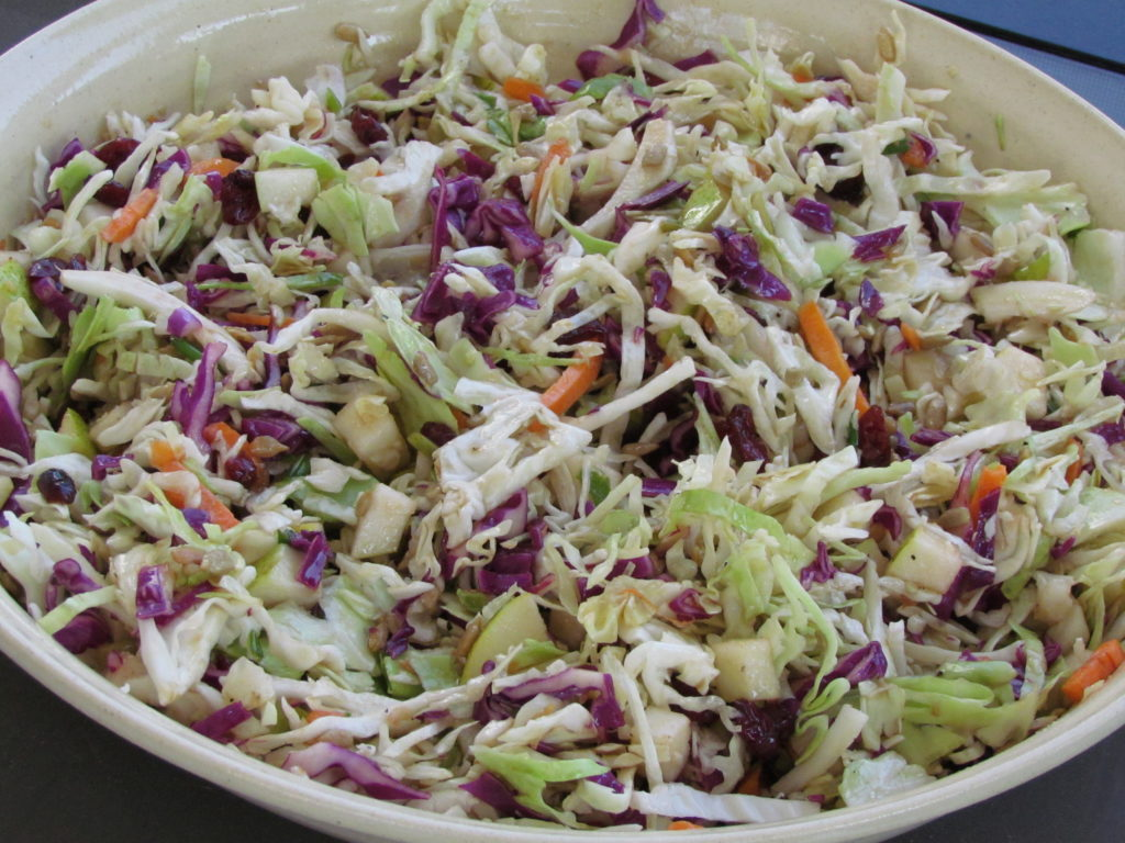 This light, flavorful Asian slaw is a delicious, healthy side dish that is perfect for the spring and summer months. Serve it with some grilled chicken, corn on the cob, and watermelon and you have yourself a perfect meal.