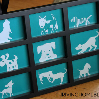 A Dog-Gone Cute Kid Room Decoration: A Silhouette Project