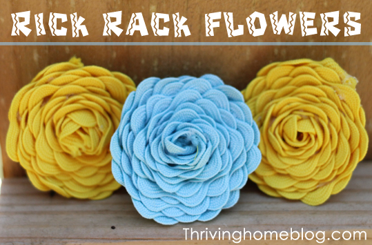 Rick rack flower tutorial