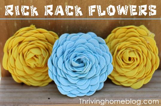 Rick rack flower tutorial