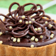 Peanut Butter Tart with Shortbread Crust and Chocolate Ganache Glaze