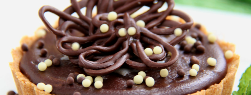 Peanut Butter Tart with Shortbread Crust and Chocolate Ganache Glaze