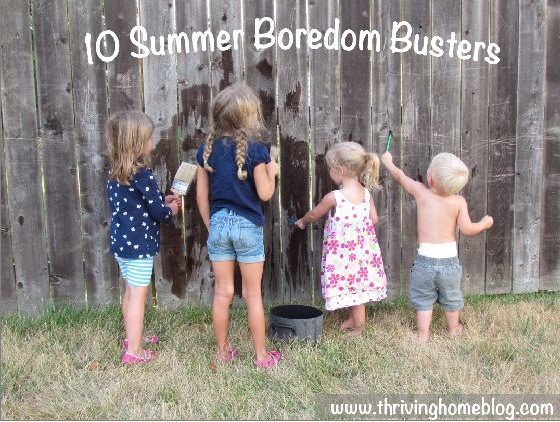 10 Summer Boredom Busters