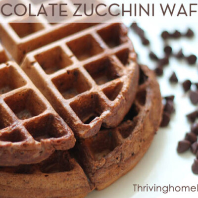 Double Chocolate Zucchini Waffles {Freezer Meal}