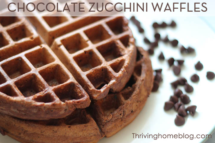 Chocolate Waffle recipe with zucchini - kid friendly freezer meal