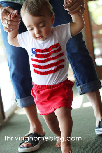 make a 4th of july onesie