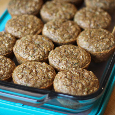 Zucchini Flaxseed Muffins {Freezer Meal}