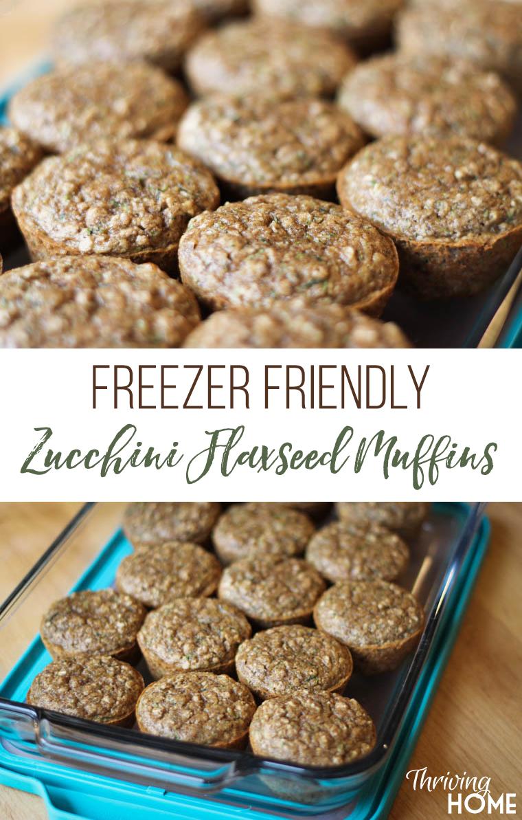 Zucchini Flaxseed Muffins