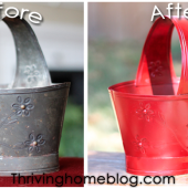 A Happy Bucket: A Spray Paint Makeover