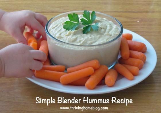 Easy blender hummus recipe