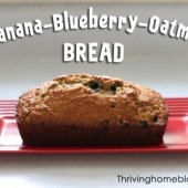 Banana-Blueberry-Oatmeal Bread Recipe