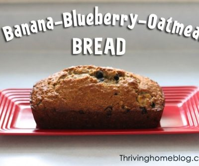 Banana-Blueberry-Oatmeal Bread Recipe {Freezer Meal}