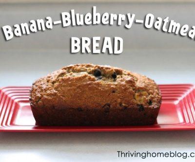 Banana-blueberry bread recipe