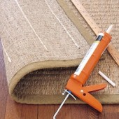 Pinterest Fail: Using Caulk as a Rug Gripper