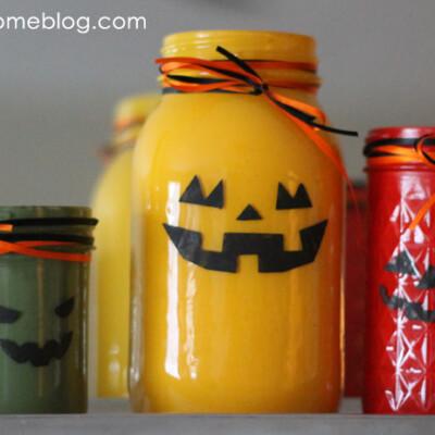 Jack-O-Lantern Jars