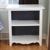 Cabinet to Bookshelf Transformation: Before and After