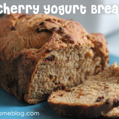 Cherry Yogurt Bread: A Bread Machine Recipe with SO Much Potential {Freezer Meal}