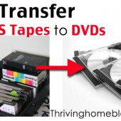 How to Transfer VHS Tapes to DVD's