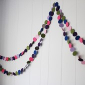 DIY Circle Garland: A Cheap and Easy Kid's Room Decorating Idea